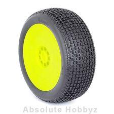 AKA Racing Catapult 1/8 Buggy Tires (Pre-Mounted) (Yellow) (Medium - Long Wear)