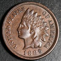 1889 INDIAN HEAD CENT - With LIBERTY & DIAMONDS - XF EF