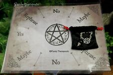 'PENTAGRAM' PENDULUM & MAT SET Metaphysical Ritual Spiritual Spell Pagan Altar