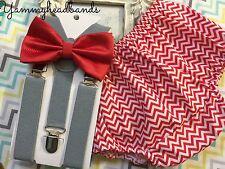 Birthday Boy Kids Bow Tie Diaper Cover Suspenders 12m-2T Smash Cake 100% Cotton