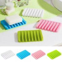 Küche Bad Silicon Flexible Seifenschale Tellerhalter 6 Tray K9X3 Farbe Soap U6B0
