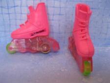 1992 BARBIE DOLL PINK Roller BLADES Skates~ BEACH time skating FUN rollerblades