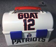 TOM BRADY -PATRIOTS VINTAGE 1 Of-A-Kind Custom Pats Logo Old School Lunch Box 🐐