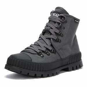 Palladium Pallashock Hiker Hi Womens Grey Boots Chunky Combat Sneaker Shoes
