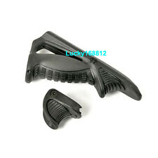 Tactical Ergonomic Forward Point Angled PTK Fore Grip W/ Thumb Lock Hand Stop BK