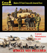 Caesar Miniatures 1/72 Modern US Tank Crews with Armored Force # H103