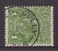 Tasmania FLOWERY GULLY 1937 type 4 postmark on KGV rated 2R by Hardinge