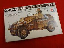 Vintage Tamiya 1/35 scale WW2 German Sd.Kfz.223 Leichter Panzerspahwagen (Fu).