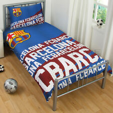 Official Barcelona F.C.Impact Single Duvet Cover Bedding Set