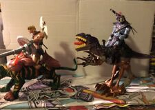 Masters of the Universe 200x He-Man with Battle Cat and Skeletor with Raptor