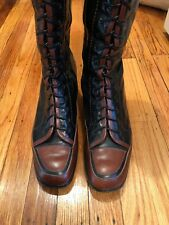 Panetullpani Vintage Knee Boots, Size 41, Lace Up , Unique, Stunning,Gently Used