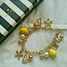 4TH of July SALE Kate Spade Lemon Tart Charm Bracelet $198