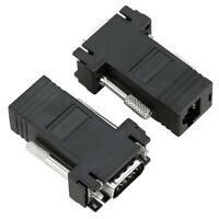Cablecc 2pcs VGA RGB Extender over LAN CAT5 CAT5e RJ45 Ethernet Female Adapter