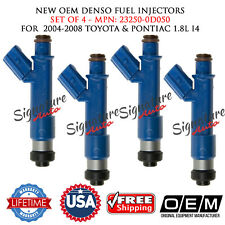 NEW 4PCS OEM DENSO Fuel Injectors for 2004-2008 TOYOTA&PONTIAC 1.8L #23250-0D050