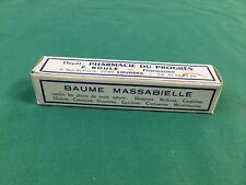 Ancien Tube Baume MASSABIELLE Pharmacie LOURDES Médicament crème