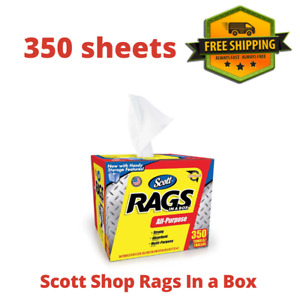 """Scott Shop Rags In a Box (350 sheets),Sheet Size: 10"""" x 12"""", Best Price, New"""