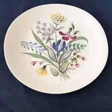 Vintage 1950 Eva Zeisel Hall Hallcraft Oval Dinner Plate Bouquet Flowers #1881
