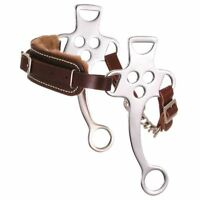 "Kelly Silver Star Fleece Lined Hackamore 7"" Cheeks Horse Size Chrome Plated"