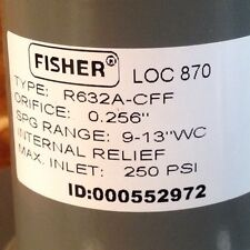 Fisher Propane Integral Two Stage Regulator R632A-Cff x 12 Tank Adapter