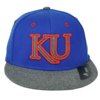 NCAA Adidas Kansas Jayhawks M858Z Structured Hat Cap Flex Fit Large XLarge Blue