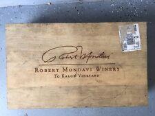 Robert Mondavi 1997 - TO KALON Vineyard / 6 Pack - Wooden Wine Box