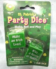 St Patrick's Day Party Dice Game Drink Kiss Sing Blarney Collect 2009 New Roll