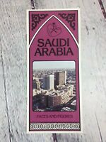 Vintage Saudi Arabia 1982 World's Fair Travel Paper Brochure Facts and Figures