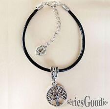 Bracelet art celtique Breizh médiéval Arbre de vie irlandais sur cordon cuir