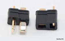1 Male /Female Pair Black T-Plug (Deans Style) Lipo Battery Connectors