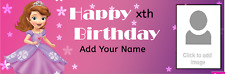 Personalised Birthday Party Banners Customised Princess Fairies Frozen Rapunzel