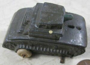 Vintage Barclay Manoil Rubber Wheels Green Tank