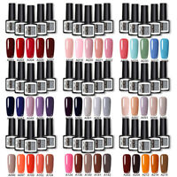 5 Bottles/set LED UV Gellack Soak Off Shiny Set Classic Colors Nail