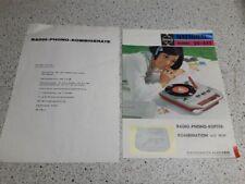 Material promocional-National Model sg-555 radio-Phono-maleta-combinación