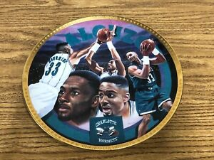 Alonzo Mourning Charlotte Hornets Plate 1993 LIMITED Edition White Teal Jersey