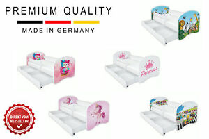 Kinderbett Babybett Jugend, mit Matratze 70x140 80x160 80x180 mit Motive CLAMARO