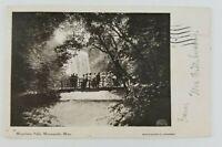 Postcard Minnehaha Falls Minneapolis Minnesota People on Bridge 1906