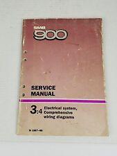 Saab 900 3:4 Manual Electrical System Comprehensive Wiring Diagrams M 1987-88