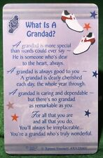 WHAT IS A GRANDAD Wallet Card Keepsake Thinking Day Poem Gift free uk pp