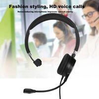 USB Call Center Headset Head-mounted Service Headphone Computer Office Earphone