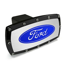 Ford Black Trim Engraved Billet Aluminum Tow Hitch Cover