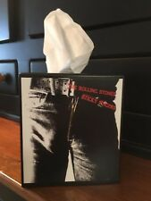 ROLLING STONES TISSUE BOX COVER WITH JAGGER-RICHARDS-STICKY FINGERS ALBUM COVER