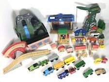 Over 140 Pieces of Thomas The Train Lot Bundle Cranky Structures Wood Railways