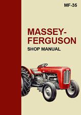 MASSEY FERGUSON MF35 TRACTOR WORKSHOP MANUAL