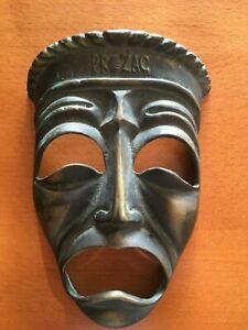 Antique bronze wall mask