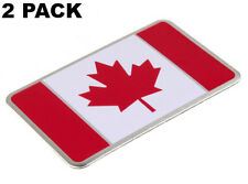 "2 PACK Aluminum CANADA Flag Sticker Emblem For Auto, Car, & Truck 3.15"" x 1.97"""