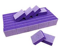 40pc Nail Buffer 80/80 White Grit Purple Sanding Mini Small Buffer Blocks 2 Side