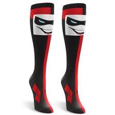 HARLEY QUINN DC BATMAN COMICS Knee High Socks One Size Suicide Squad Cosplay
