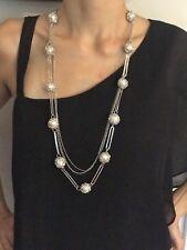 Multi-Layer Pearl Decorative Long  Sweater Chain Pendant