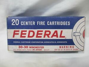 Vintage Federal 30-30 Winchester Empty Box