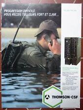 8/1984 PUB THOMSON-CSF TELECOMMUNICATIONS HF/BLU TRC 340 350 ORIGINAL FRENCH AD